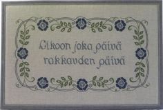 Olkoon joka Finnish Words, Social Security, Personalized Items, Finland, Cards, Calligraphy, Northern Lights, Egg, Maps