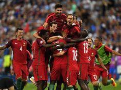 Portugal stuns host France to win Euro 2016 France 1, Cristiano Ronaldo, Euro, Soccer, Superhero, Sports, Football Soccer, Photo Illustration, Hs Sports