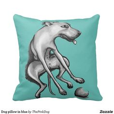 Dog pillow in blue