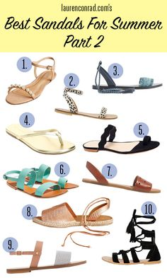 Summer sandals for every occasion.