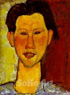 Amedeo Modigliani - Portrait of Chaim Soutine 1915 reproduction ...