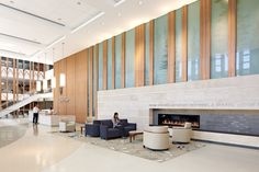 Healthcare Facilities Design - Honor Award: Tsoi/Kobus & Associates with Cooper Robertson & Partners for Duke Cancer Center - Durham, North Carolina. Photo by Robert Benson Photography.