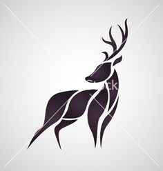 Deer logo vector on VectorStock