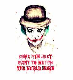 Alex Delarge Joker, Clockwork Orange watercolor Art Print