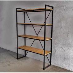 Estanteria Madera Hierro. Mesa Consola Ratona Biblioteca - $ 6.900,00