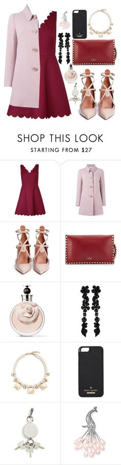 """Red Dress"" by belabelistic ❤ liked on Polyvore featuring RED Valentino, Valentino, Kate Spade, Alexander Wang, Bling Jewelry, women's clothing, women, female, woman and misses"
