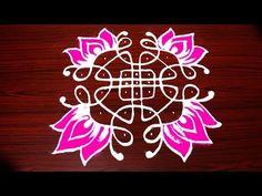 Everday rangoli design/flower rangoli design with dots/11 dots kolam/ಚುಕ್ಕಿ ರಂಗೋಲಿ - YouTube