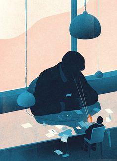 Elegant illustration style by Karolis Strautniekas
