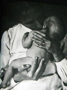 Tasha Tudor and her first baby