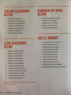Keto Reset Cookbook Keto Seasoning, Italian Seasoning, How To Dry Rosemary, How To Dry Basil, Ground Cinnamon, Spice Blends, Pumpkin Spice, Spices