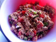 Fiesta Tuna Salad Shared on https://www.facebook.com/LowCarbZen | #LowCarb #Lunch
