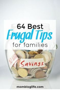 64 Of The Best Frugal Tips For Families Frugal living tips to help families save money. The frugal tips are easy to incorporate into everyday living. Best Money Saving Tips, Money Saving Meals, Save Money On Groceries, Ways To Save Money, Money Tips, Money Hacks, Frugal Family, Frugal Living Tips, Frugal Tips