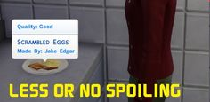Less or No Spoiling mod by simmythesim at Mod The Sims via Sims 4 Updates