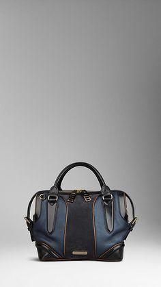 Petit sac tote uni à touches de métal | Burberry