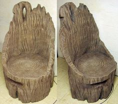 Tree chair...awesome furniture idea for outdoor living space. or indoor sunroom.