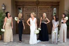 Old Hollywood Inspired Bridesmaids | photography by http://www.amyandjordan.com/