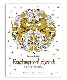 This Enchanted Forest Artists Edition Coloring Book Is Perfect Zulilyfinds