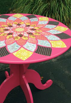 Maybe for gift table or head table? Get chep old table and paint colors of wedding?