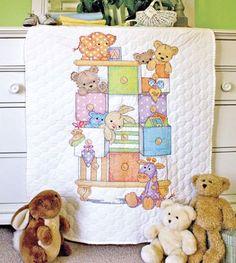 Baby Drawers Quilt da Dimensions - Punto Croce Stampato - Kit Punto Croce Kit - Casa Cenina
