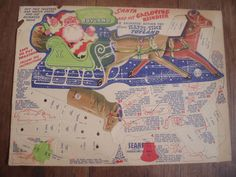1940s Sears punch-out cardboard Santa toy