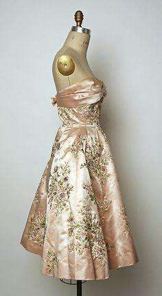 Evening dress, 1956-57, Pierre Balmain for the House of Balmain, French, silk/beads