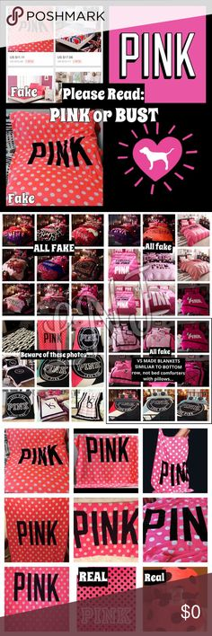 How to know if your buying a REAL VS PINK PRODUCT: So I have seen so many people fall victim to buying fake VICTORIAS SECRET items, and as a seller myself it makes me sad. Though, how is someone suppose to know? I feel there are so many blogs for other common counterfeits, but not this! So this is one common item I wanted to share: FEEL FREE TO ASK questions!  My main reason is about the PINK polka dot- as you see it's way different than the SHERPA. There are also very similar replicas under…