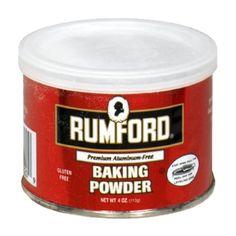 "Rumford Gluten Free Baking Powder, 4 oz (Pack of has no ""aluminum. No Bake Desserts, Dessert Recipes, Baking Desserts, Multigrain, Sugar Free Recipes, Baking Supplies, Gluten Free Baking, Baking Ingredients, Desert Recipes"