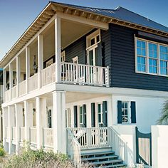 When shop owner Kay Douglass and her husband, Jim, purchased this new house—designed by architect James Carter—in Rosemary Beach, Florida, they relied on Kay's knack for repurposing old objects to create an interior space that reflects the same character Beach Cottage Style, Coastal Cottage, Coastal Homes, Beach House Decor, Coastal Living, Coastal Style, Nantucket, Les Hamptons, Cap Ferret