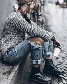 秋冬の足元はこれで決まり!Dr.マーチンのブーツで女子コーデ♪-STYLE HAUS(スタイルハウス)