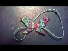 DIY:Macrame Butterfly Bracelet (by #Mycraftyworld) - YouTube