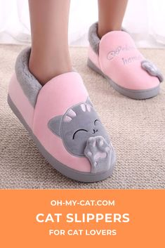 Women's House Shoes Women Warm Home Slippers Couple Shoes Female Plush Cat Animal Ladies Slip On Flats Woman Plus Size Winter Slippers, Kids Slippers, Womens Slippers, Soft Slippers, Winter Shoes, Chat Rose, Bedroom Slippers, Winter Kids, Winter 2017