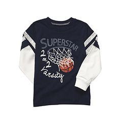 Carter's® Baby Boys' Navy Superstar Varsity Tee