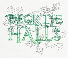 Crystal Christmas - Deck the Halls | Urban Threads: Unique and Awesome Embroidery Designs