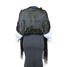 Sweet Pea Embroidered Wrap