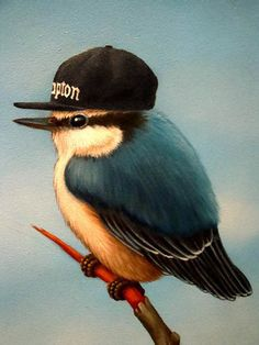 This bird is gangster! He'll do a fly by !