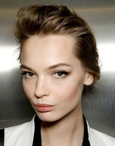 Modern cat eyes. A mix of old and new. Spring 2012 makeup trends from Harper's Bazaar.