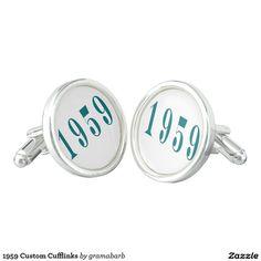 1959 Custom Cufflinks #jewelry