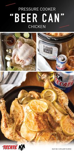 Pressure Cooker Beer Can Chicken with Beer-Infused Gravy – Unsophisticook Chicken Pot Recipe, Can Chicken Recipes, Beer Can Chicken, Canned Chicken, Beer Recipes, Mexican Food Recipes, Traeger Recipes, Power Cooker Recipes, Rice Cooker Recipes