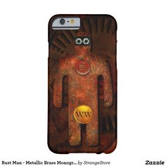 Rust Man - Metallic Brass Monogram Super Hero Barely There iPhone 6 Case from #StrangeStore