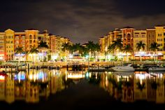 "Downtown Naples, at night..okay maybe not so much ""Dream"" as ""Home"", but what a beautiful picture!"