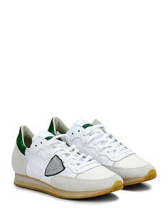 PHILIPPE MODEL PARIS - Sneakers - Uomo - Sneaker in tessuto tecnico e camoscio con logo su lato esterno e suola in gomma. Tacco 30, platform 15 con battuta 15. - BIANCO\SILVER - € 210.00
