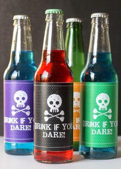 Halloween Soda Pop Labels