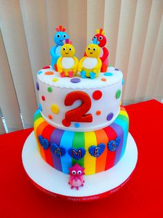 Twirlywoos Cake xMCx Baby Birthday Cakes, Baby Boy Cakes, 2nd Birthday, Birthday Ideas, Twirlywoos Cake, Teletubbies Birthday Cake, Cake Designs For Boy, Lily Cake, Boat Cake