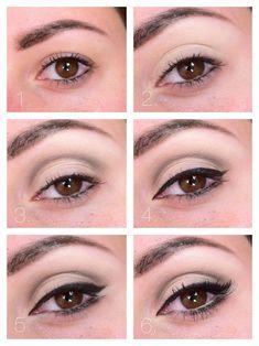 "The colors I often use. ""White, Black and Gold Wedding Make up. Audrey Hepburn make up. Natural Eyes, Natural Makeup Looks, Make Up Looks, Beauty Make-up, Beauty Hacks, Beauty Tips, Fashion Beauty, Makup Tutorial, Skin Makeup"