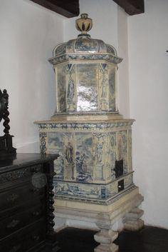 Porcelain Painted Stove