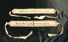 Paar (Strumpf-?) Bänder / Garters est. ca. 1830