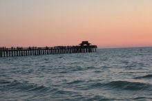 Great pier for taking a leisurely evening stroll.