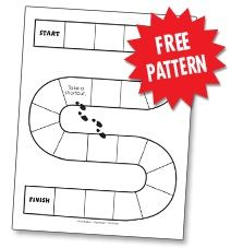 Here's a basic board pattern for creating your own math games!