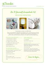 3Chooks - DIY Lampshade Kits - check out our cute and very descriptive instructions - FREE when you subscribe to www.3chooks.com.au