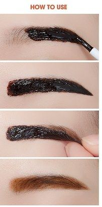 Etude House Tint My Brows Gel is a peel-off eyebrow tint that gives you natural-looking brows that last for a long time. | 18 Korean Beauty Products That Actually Work
